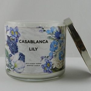 New Bath Body Works Casablanca Lily 3 Wick Candle
